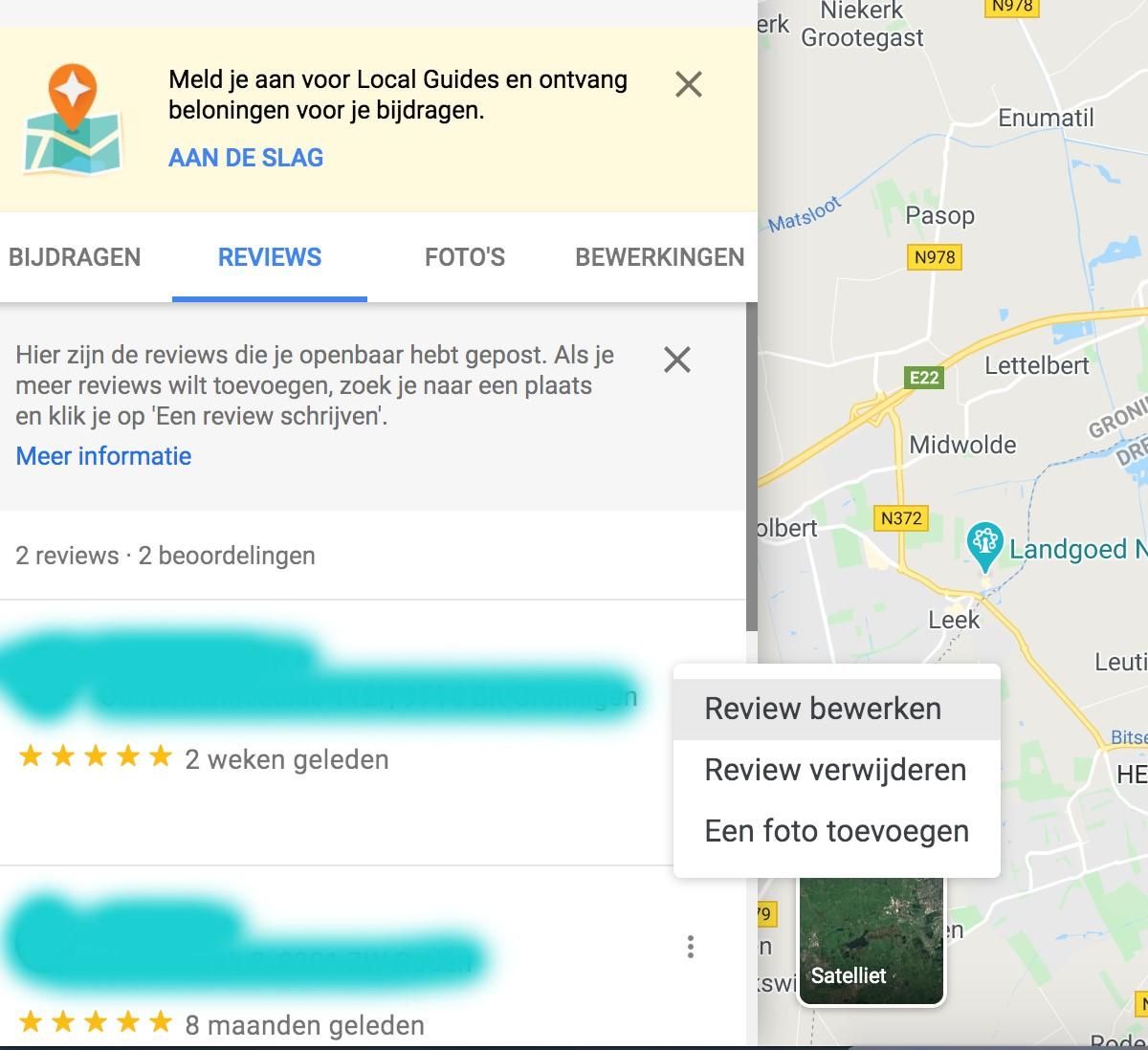 google review verwijderen